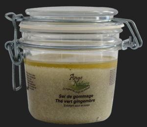sel de gommage au  thé vert
