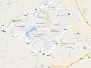 Plan d'accès général Ottignies Louvain La Neuve